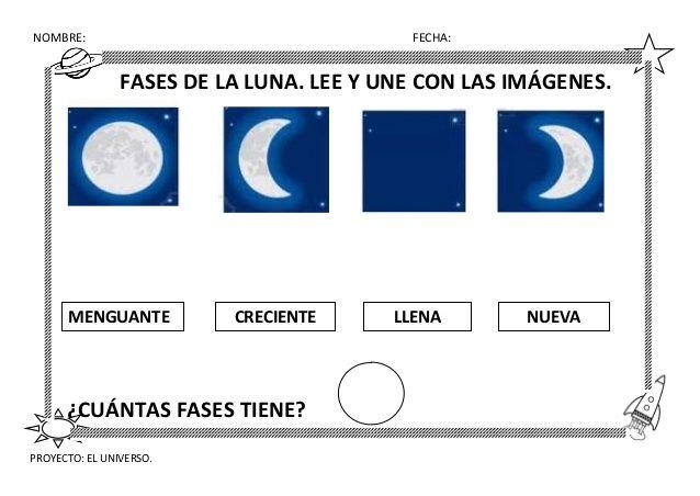 Laminas Para Colorear Fases De La Luna - globeooffer.com
