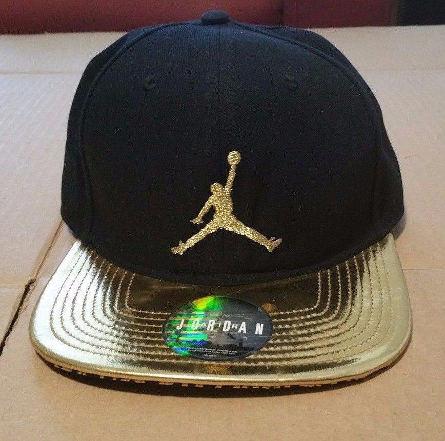 750e6d0b2ca ... adjustable f11bc b51bf; uk mens air jordan jumpman black and gold 46101 nike  hat baseball cap ebay 57350 f3290