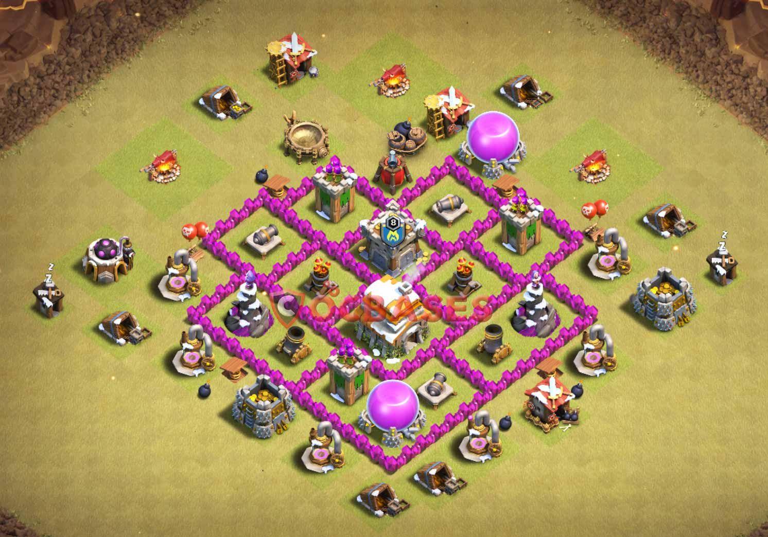 Coc Th 6 Best War Base 11