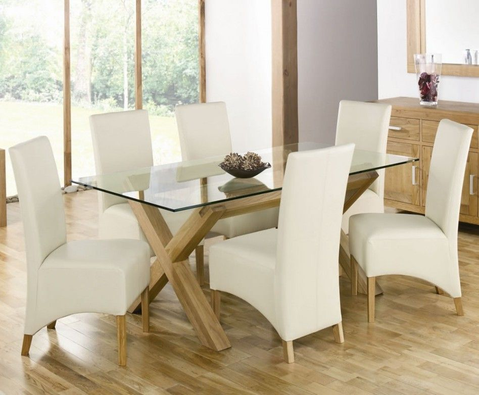 Dining Room Simple Modern Custom Rectangle Glass Top Tables Clear