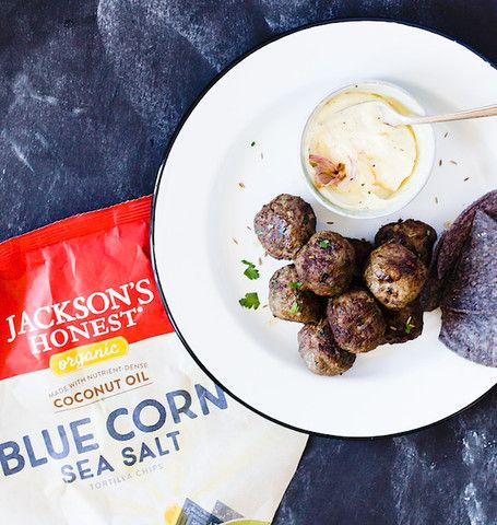 We are crazy about this CUMIN SPICED MEATBALLS WITH ROASTED GARLIC AIOLIrecipe. Once again, another great recipe from Heartbeet Kitchen. serves 8 people as an