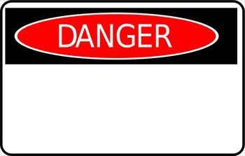 Check It Out Free Clip Art Danger Sign Sticker Sign