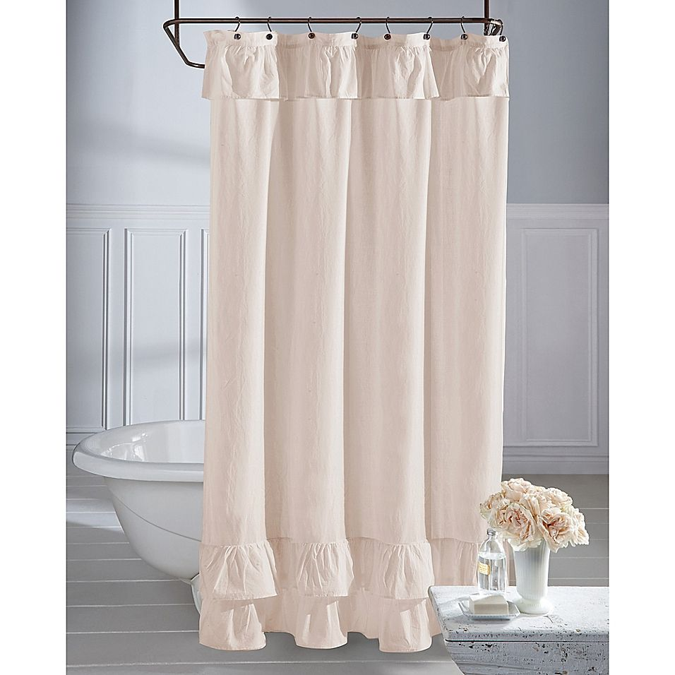 Wamsutta Vintage Ruffle 54 X 78 Shower Curtain In Blush In 2020