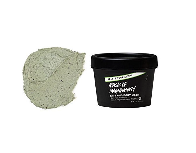 "Lush's <a href=""http://amzn.to/2ddDOTB"" target=""_blank"">Mask of Magnaminty</a> face and body mask to soothe your skin after a long day."