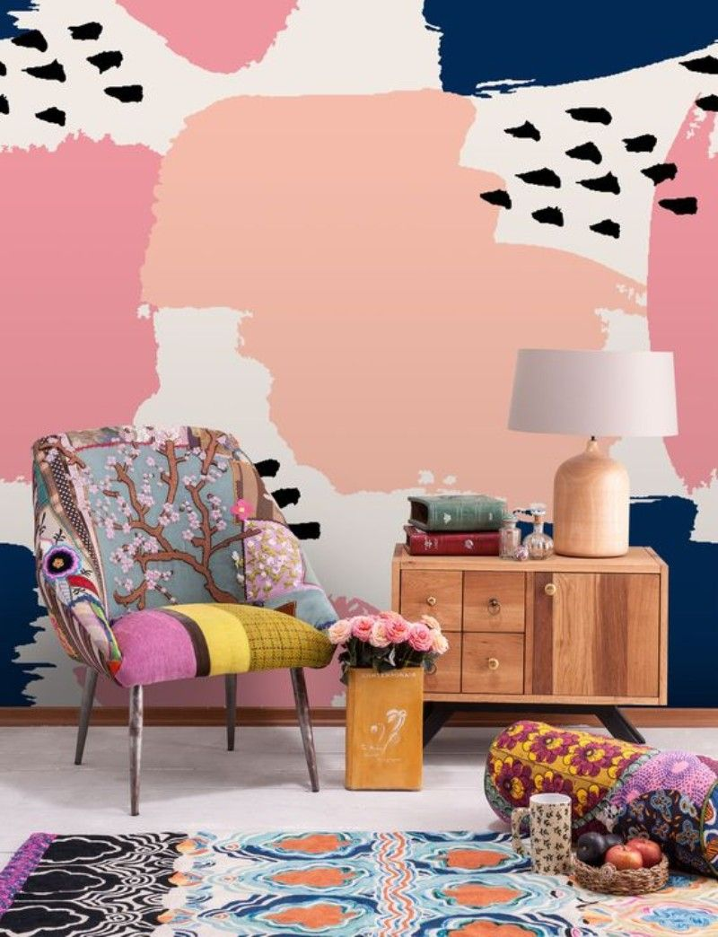 Living Room Corners Patterned Wallpapers You Will Fall In