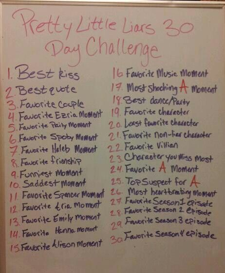 Pretty Little Liars 30 Day Challenge Im Starting This Today