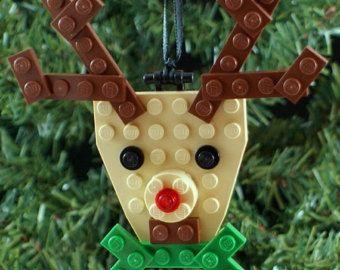 Build It Kit Lego Reindeer Christmas Tree Ornament Lego