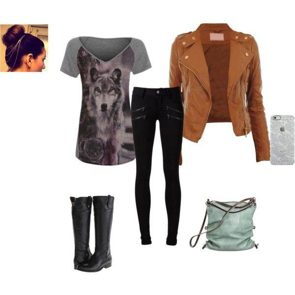 Ready For Action by simranadeshara on Polyvore featuring Paige Denim, Frye, Ina Kent and Uncommon