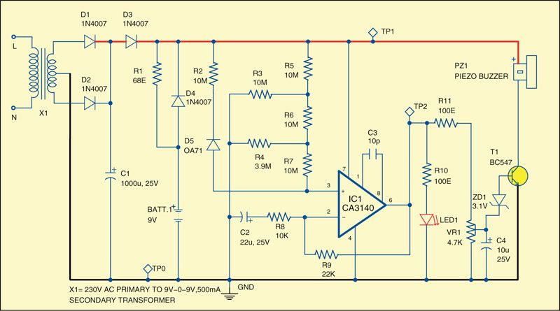 Signal Diode-Based Fire alarm | Electronics | Pinterest
