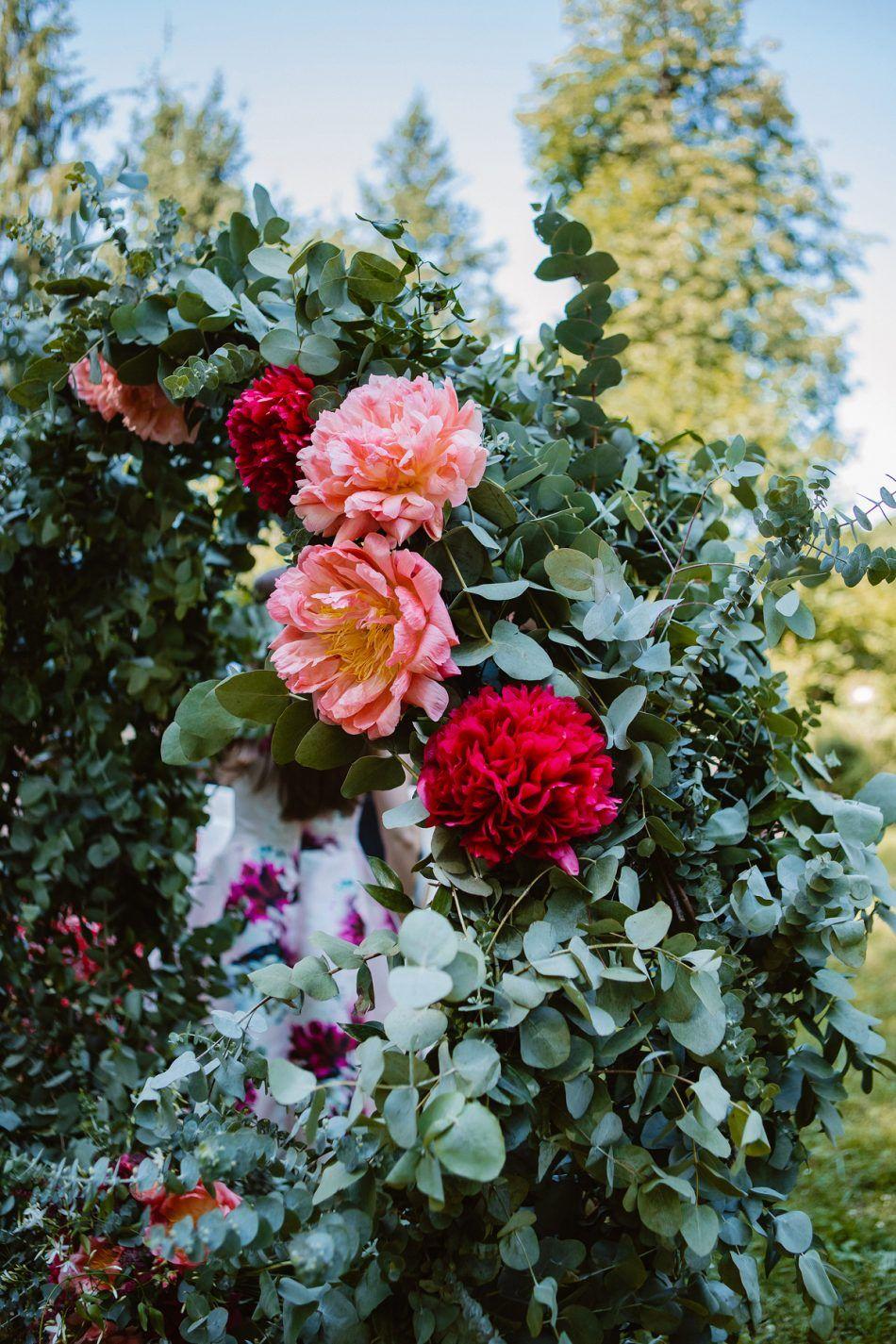 détail arche en fleur- décoration - jardin -garden | idées fleur