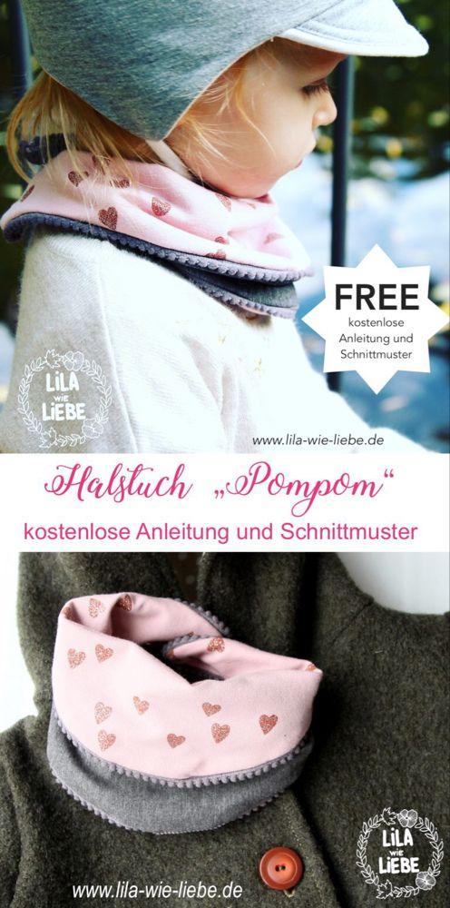 Halstuch Pompom Freebook #clothpatterns