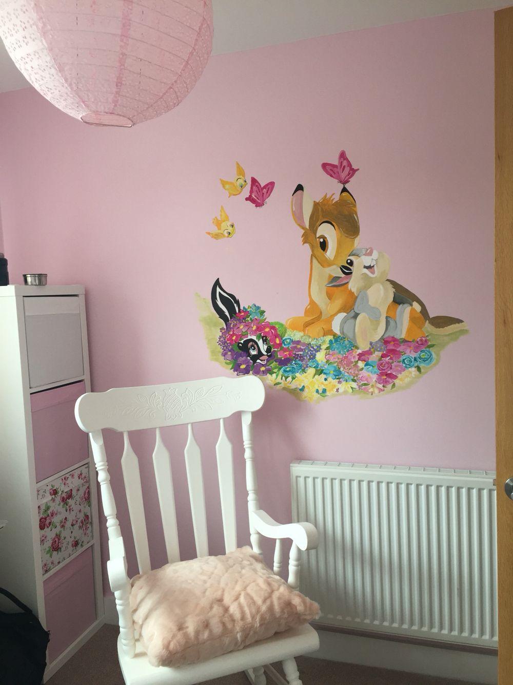 latest bambi nursery mural adaline and paisley room baby girllatest bambi nursery mural