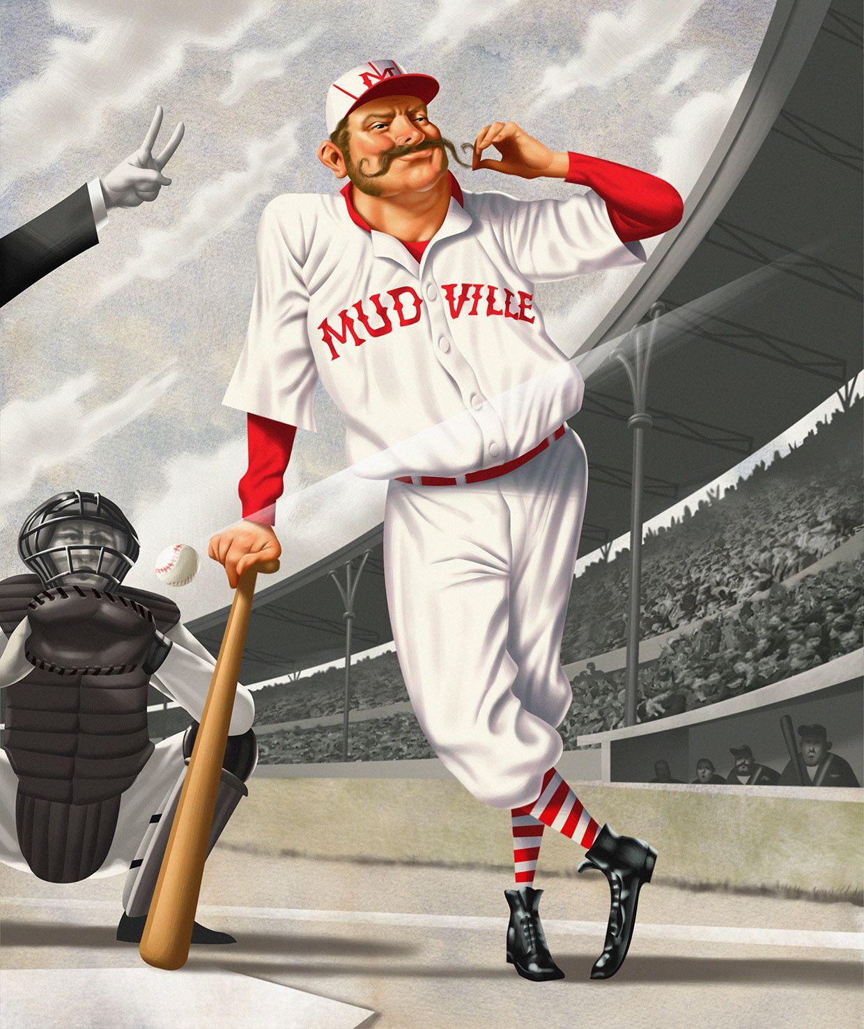 Jim Tsinganos Illustration Celebrating The Famous Casey