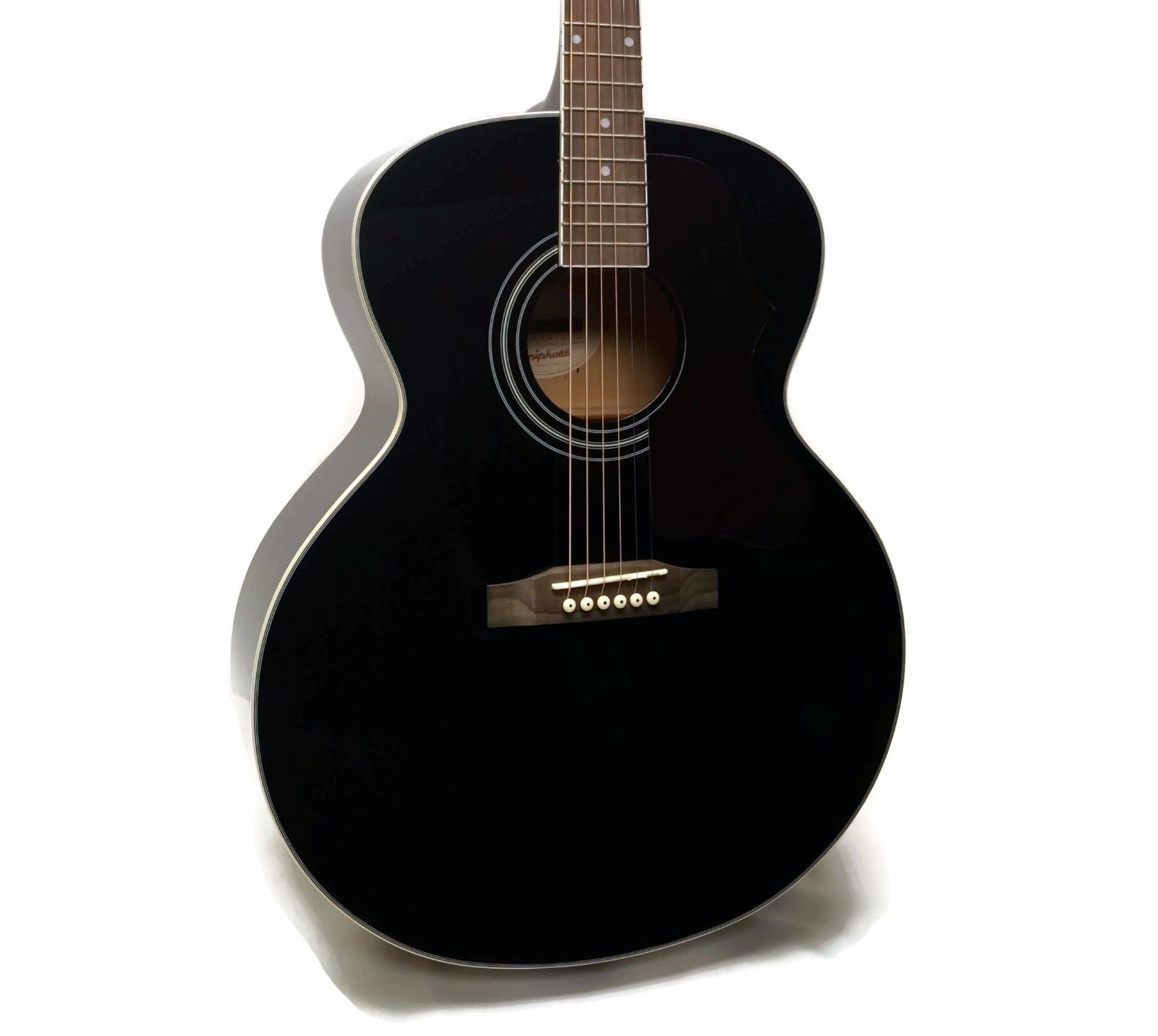 epiphone ej 200 artist limited edition jumbo acoustic guitar ebony