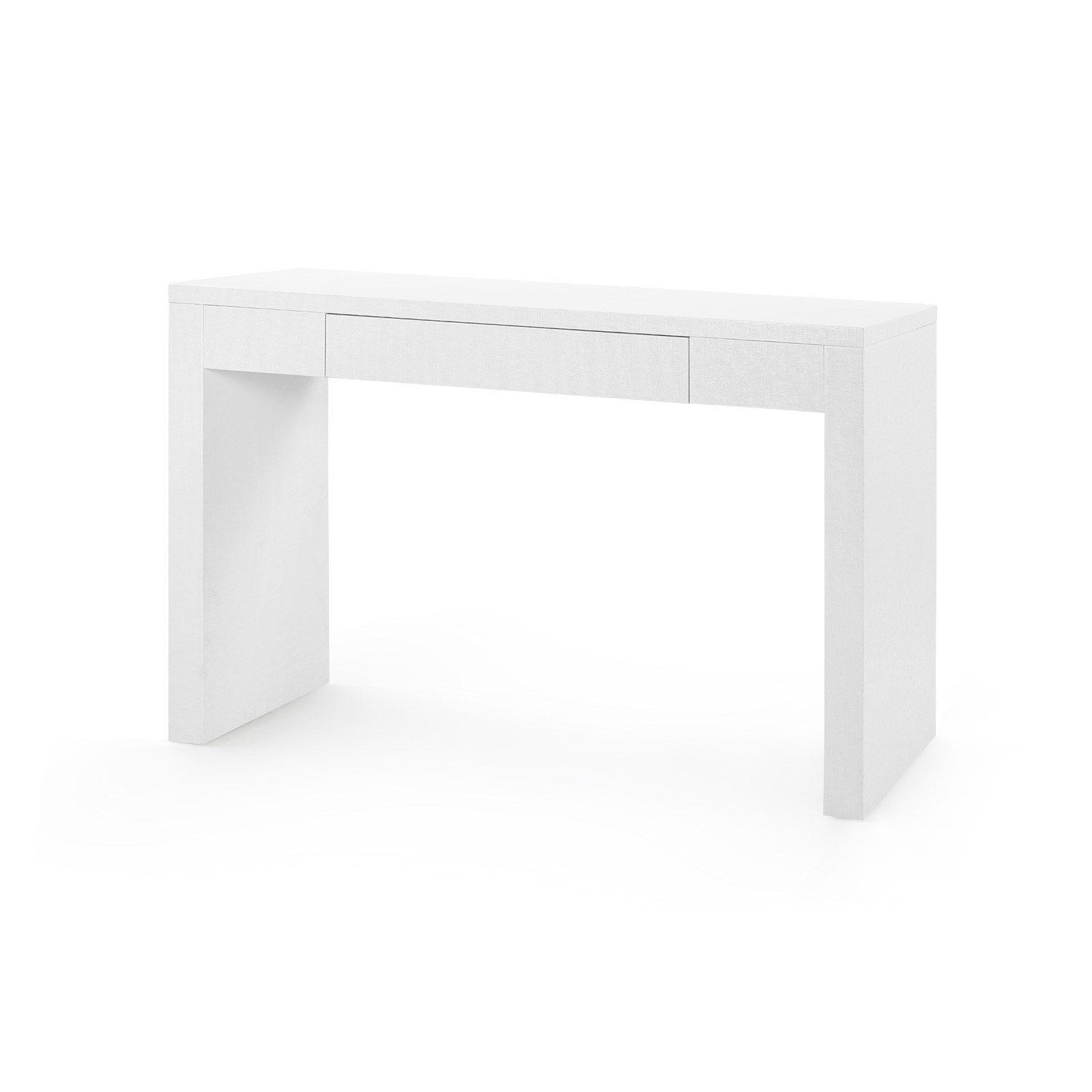 Morgan Console White In 2021 Grasscloth Console Table Home