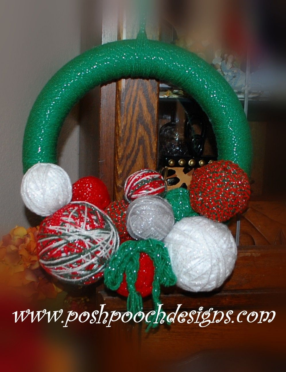 Posh Pooch Designs Dog Clothes: How To Make A Yarn Ball Wreath