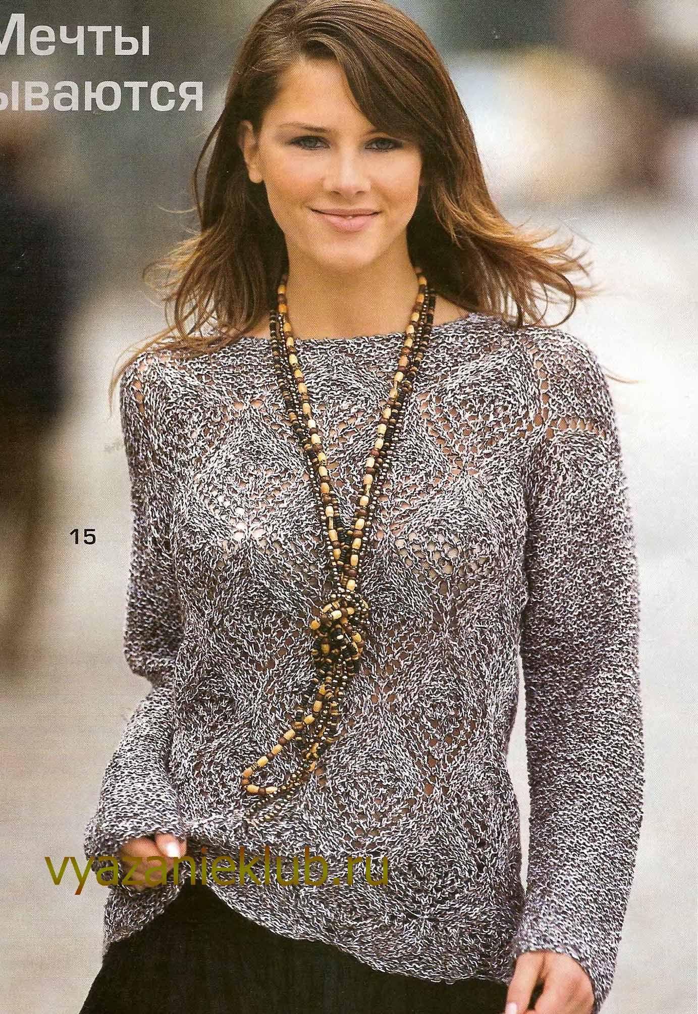 Вязание модели пуловеров для женщин