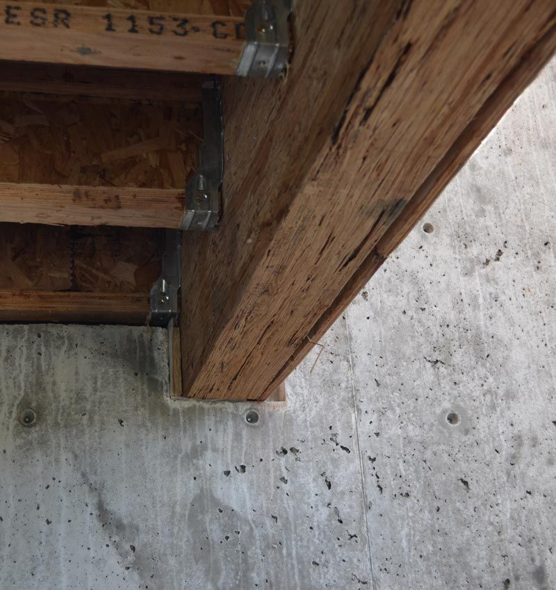 Pocket In Concrete Wall For Parallam Beam Wood Beams