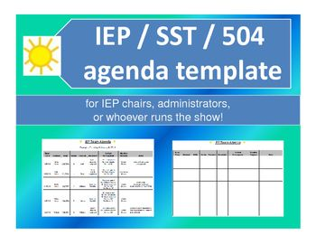 Iep or 504 meeting agenda template caseload data iep 504 a well organized agenda template used to schedule iep or 504 meetings maxwellsz