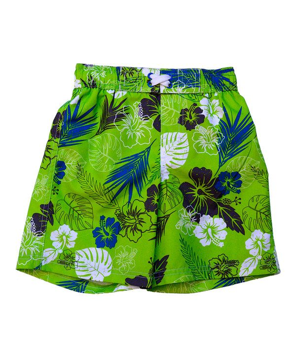 iXtreme Lime Tropical Swim Trunks - Infant & Toddler by iXtreme #zulily #zulilyfinds