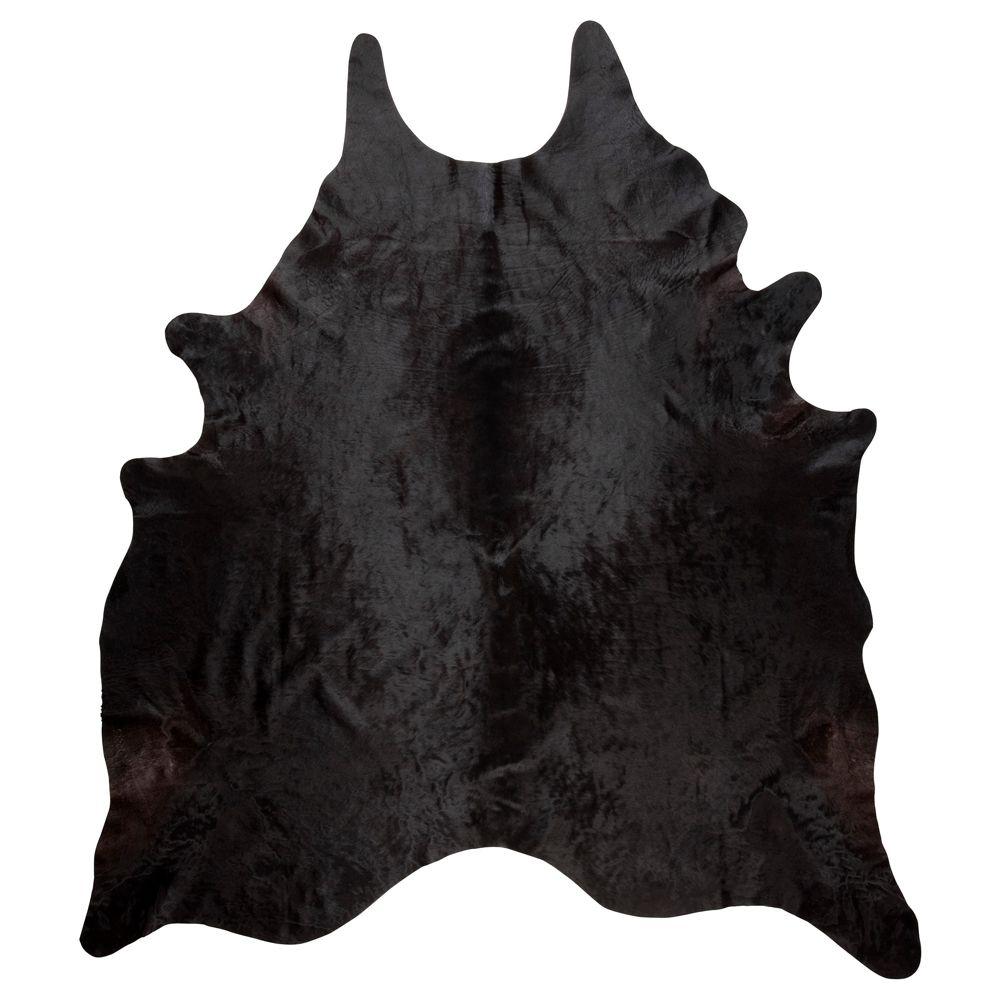 KOLDBY Cowhide black/white black Ikea cowhide, Black