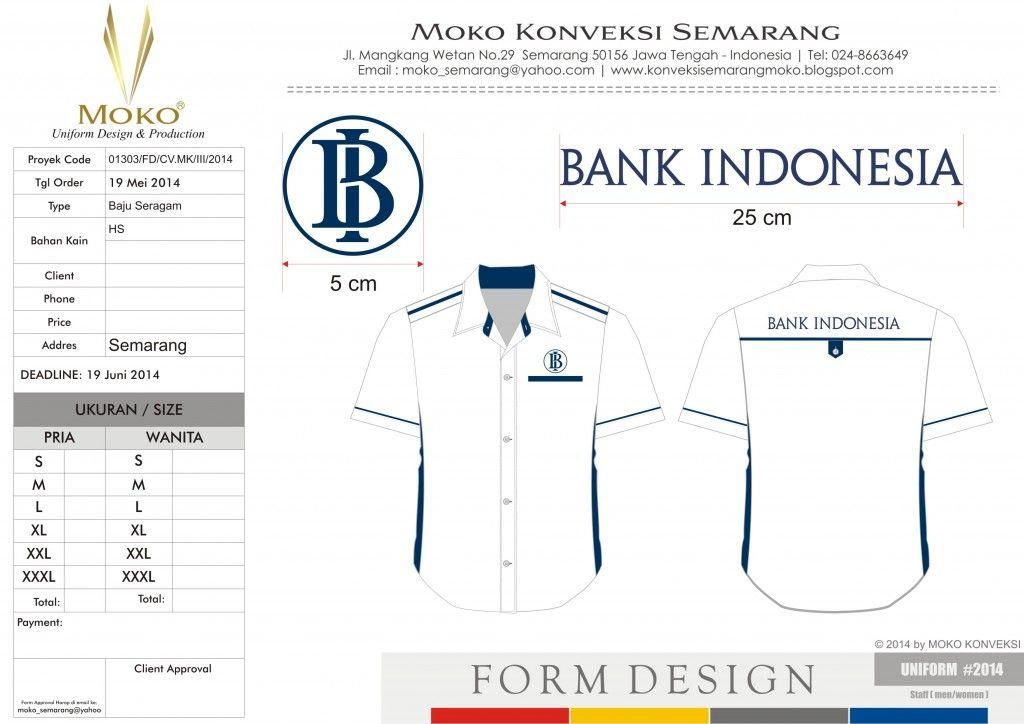 Seragam Kerja Lapangan Bank Indonesia BI, Semarang