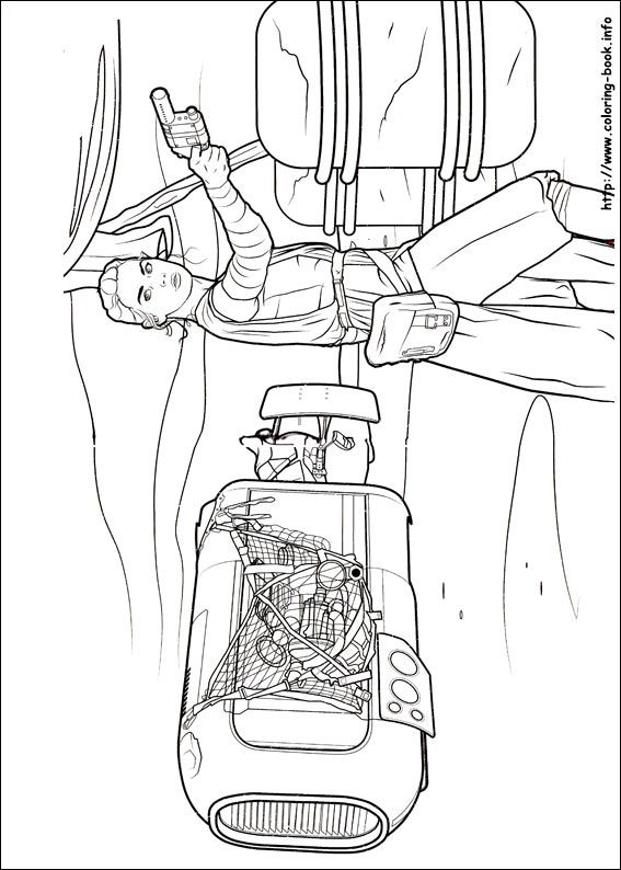 Star Wars : The Force awakens coloring picture | star wars II ...
