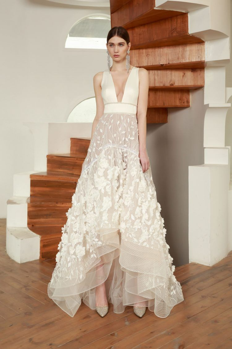 Special Occasion Dress Barocco Gown Bronx And Banco In 2020 Ankle Length Wedding Dress Wedding Dresses Atlanta Wedding Dresses Unique