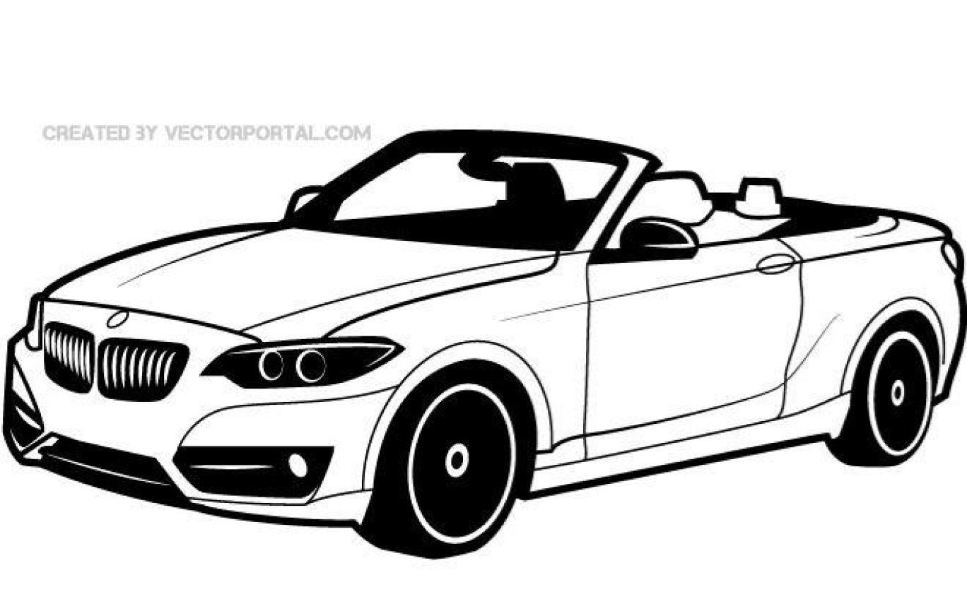 Free Bmw Vehicle Vector Drawingeps Psd Files Vectors In Bmw Car Outline Drawing Car Vector Car Silhouette Car