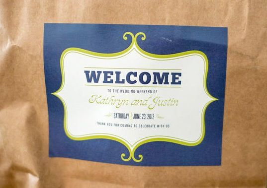 Guests Were Welcomed At Their Hotels With A Goody Bag Filled Drinks And Snacks Welcome Bagsgoody Bagssnacksstickerlabelgooswonderlandwedding