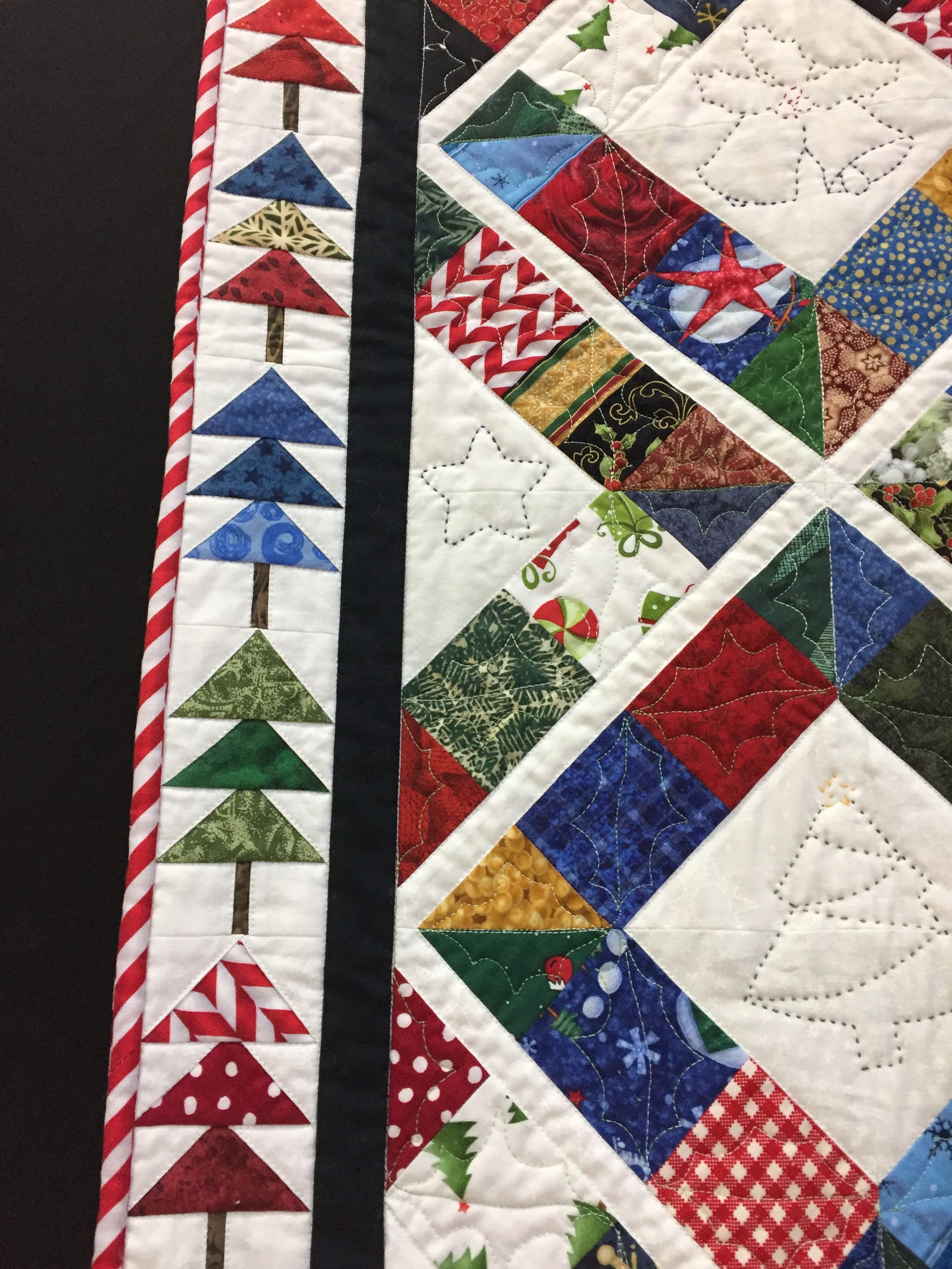 Scrappy Holiday Quilts Quilt Boarders Quilting Crafts