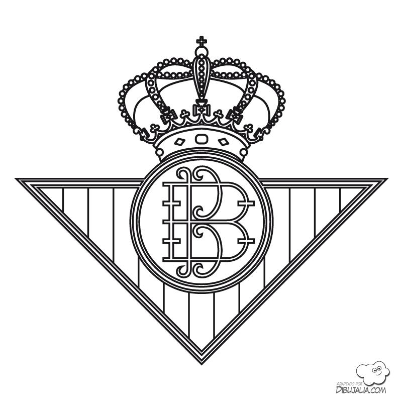 Escudo Real Betis Balompie Dibujalia Dibujos Para Colorear Banderas Y Escudos Escudos Equipos Futbol Liga Espanola Escudo Equipo De Futbol Balompie