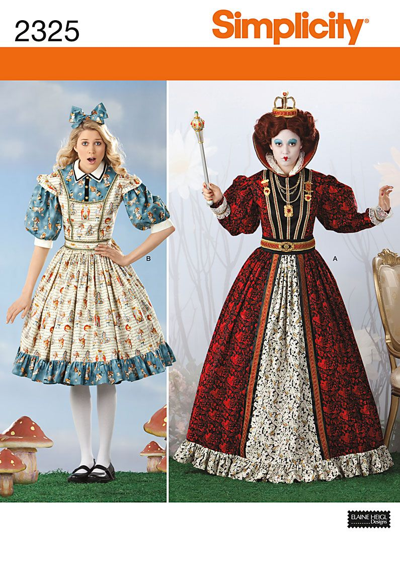 2325 Misses\' Alice in Wonderland Costumes | Sewing Projects ...