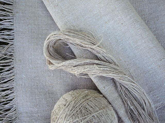 Handspun linen! Flax is one of my favorite things to spin.