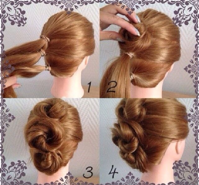 Lovely Elegant Hairstyle Tutorial - Very Easy Step
