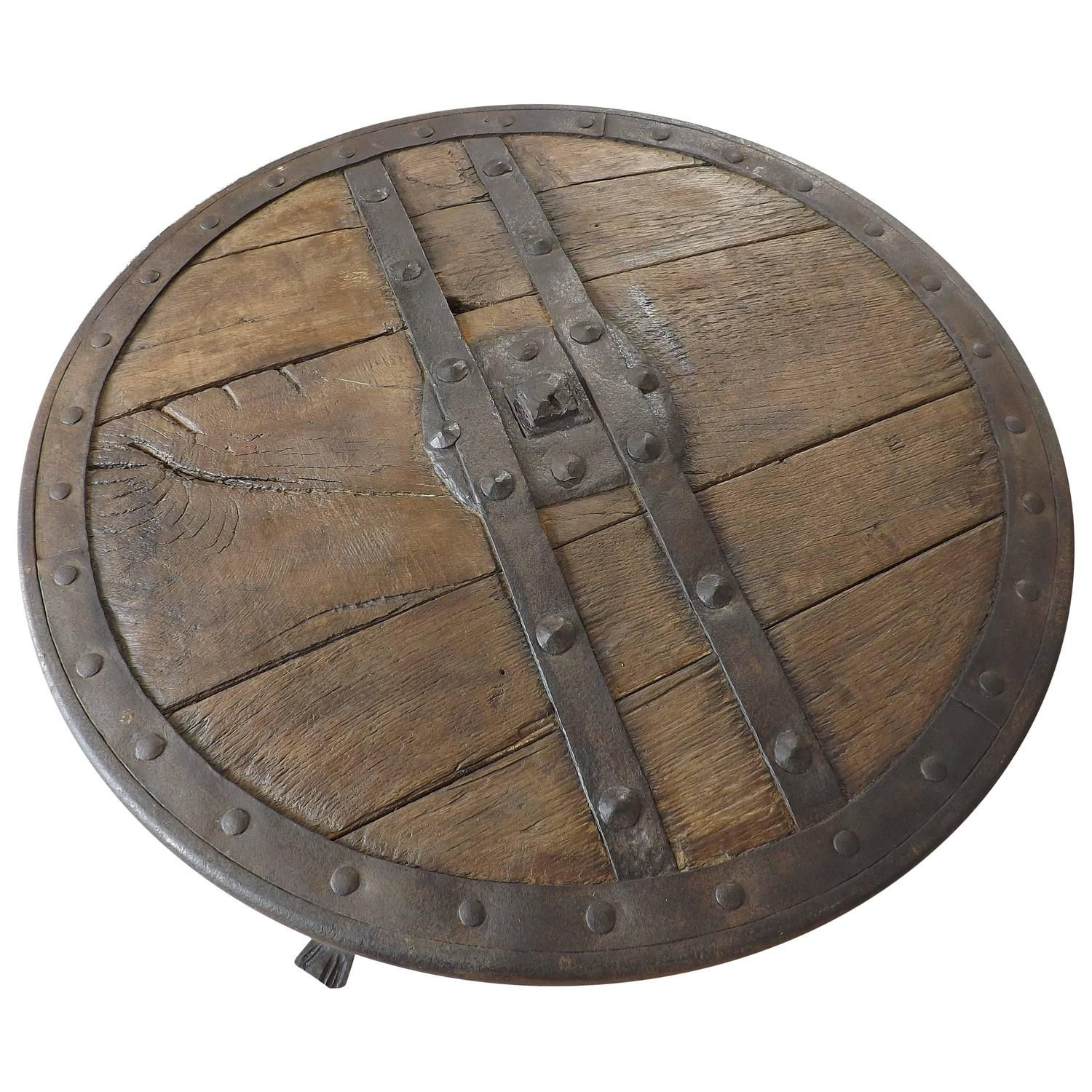 Medieval forged iron and hardwood wagon or chariot wheel coffee medieval forged iron and hardwood wagon or chariot wheel coffee table geotapseo Images