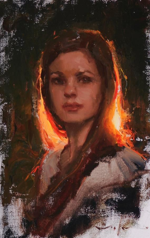 backlit portrait painting - Google Search   Imagine in 2019