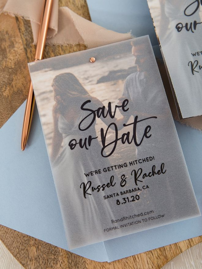 These FREE Edit + Print Photo Magnet Save The Dates Are Gorgeous!