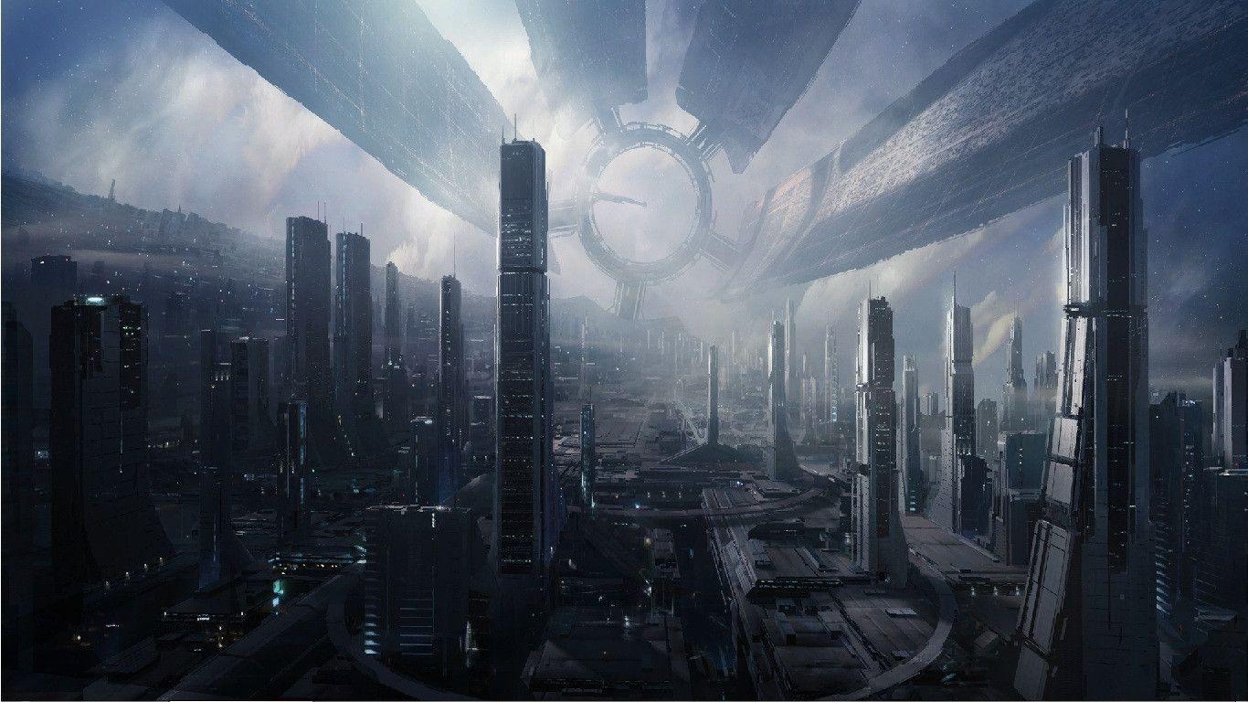 Dystopian Futuristic Wallpaper Desktop Background Mass Effect New Wallpaper Hd Fantasy Pictures