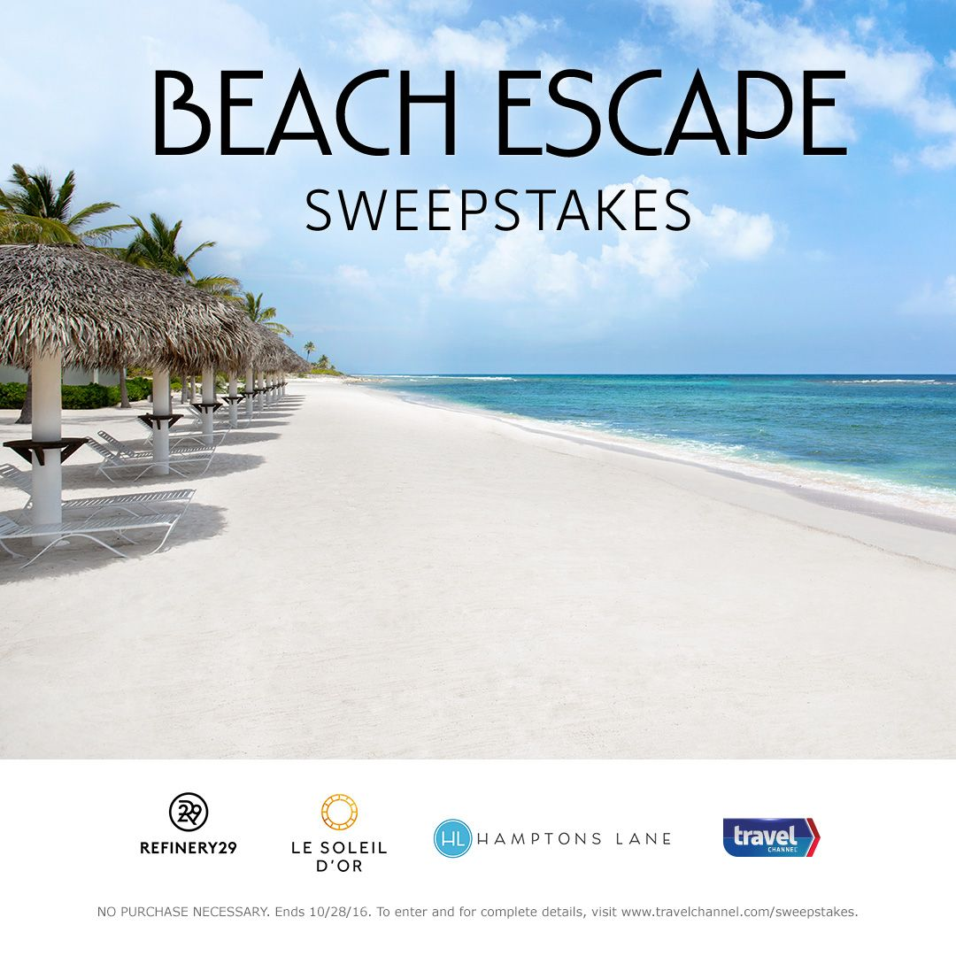 The only thing missing is you!  Enter the Beach Escape Sweeps for a chance to win one grand prize trip to the Cayman Islands and a 6-month box subscription for the ultimate food lover-->  travelchannel.com/sweepstakes/beach-escape-sweeps-2016?soc=TCbeach