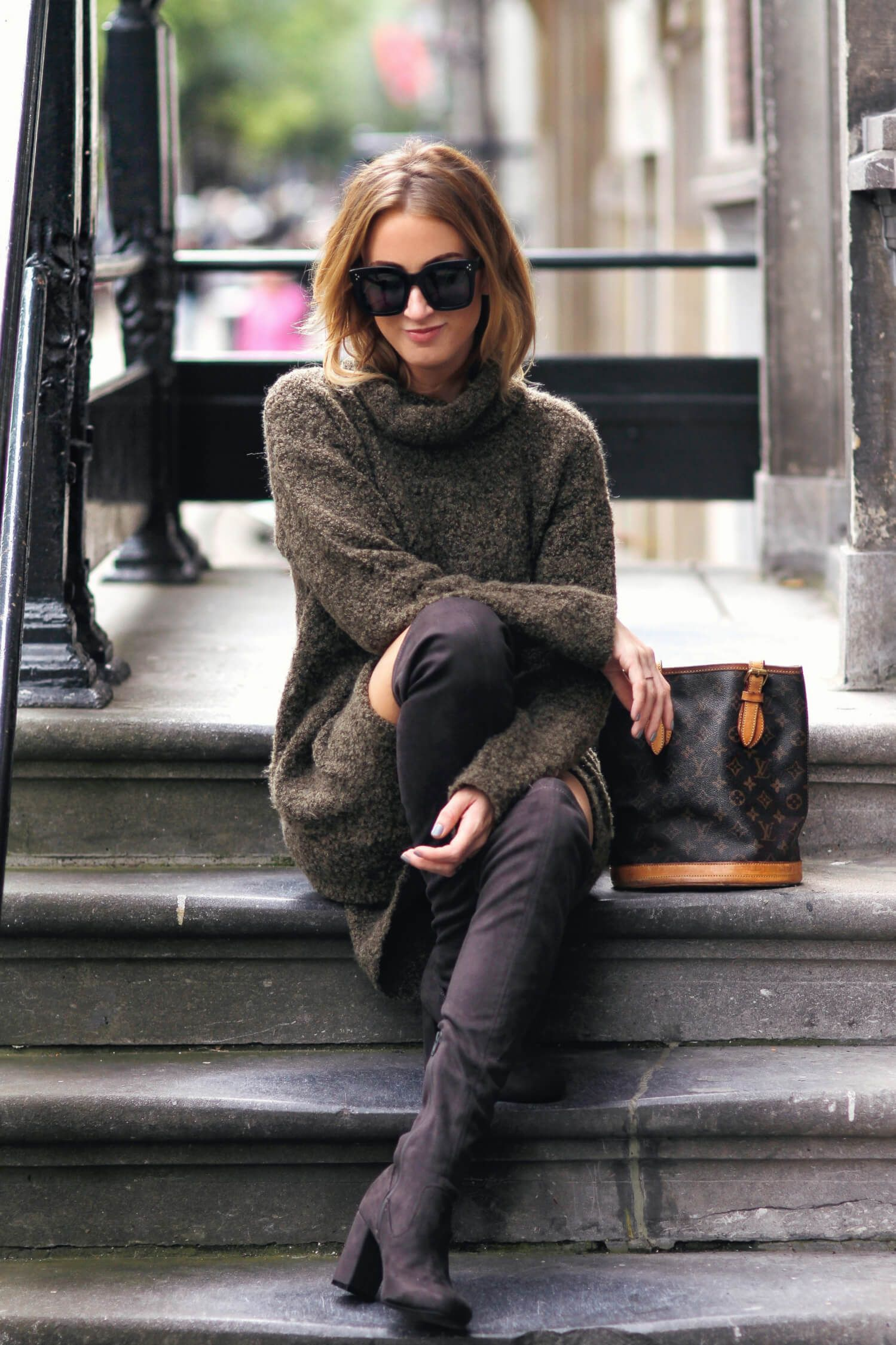 Queen Of Jet Lags Over The Knee Boots Fashion Fashion Blogger