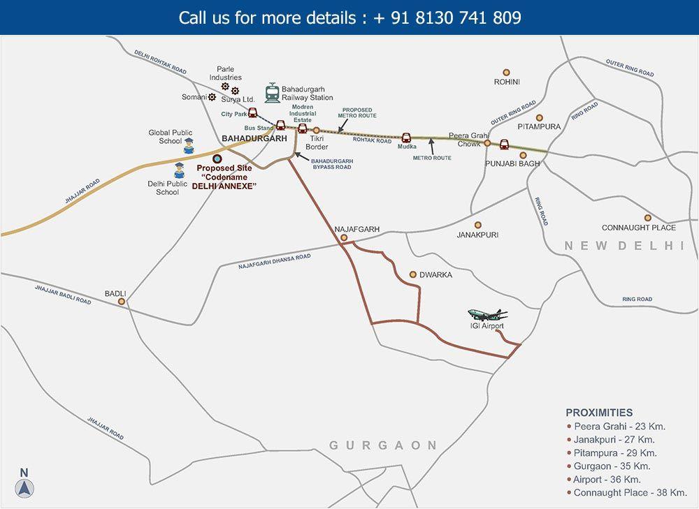 Tata New Haven Bahadurgarh Location Map - Located Nearby National ...
