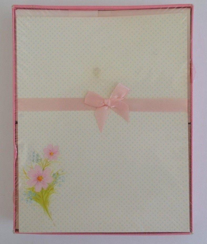 vintage pratt austin paper polka dot stationery set publisher s