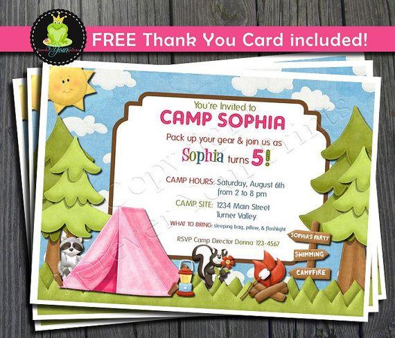 Free Printable Camping Invitations