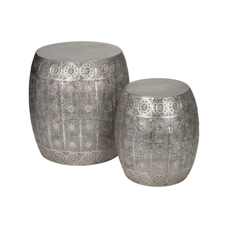 bijzettafeltje rond set van 2 - zilver | xenos | home decoration, Badezimmer ideen