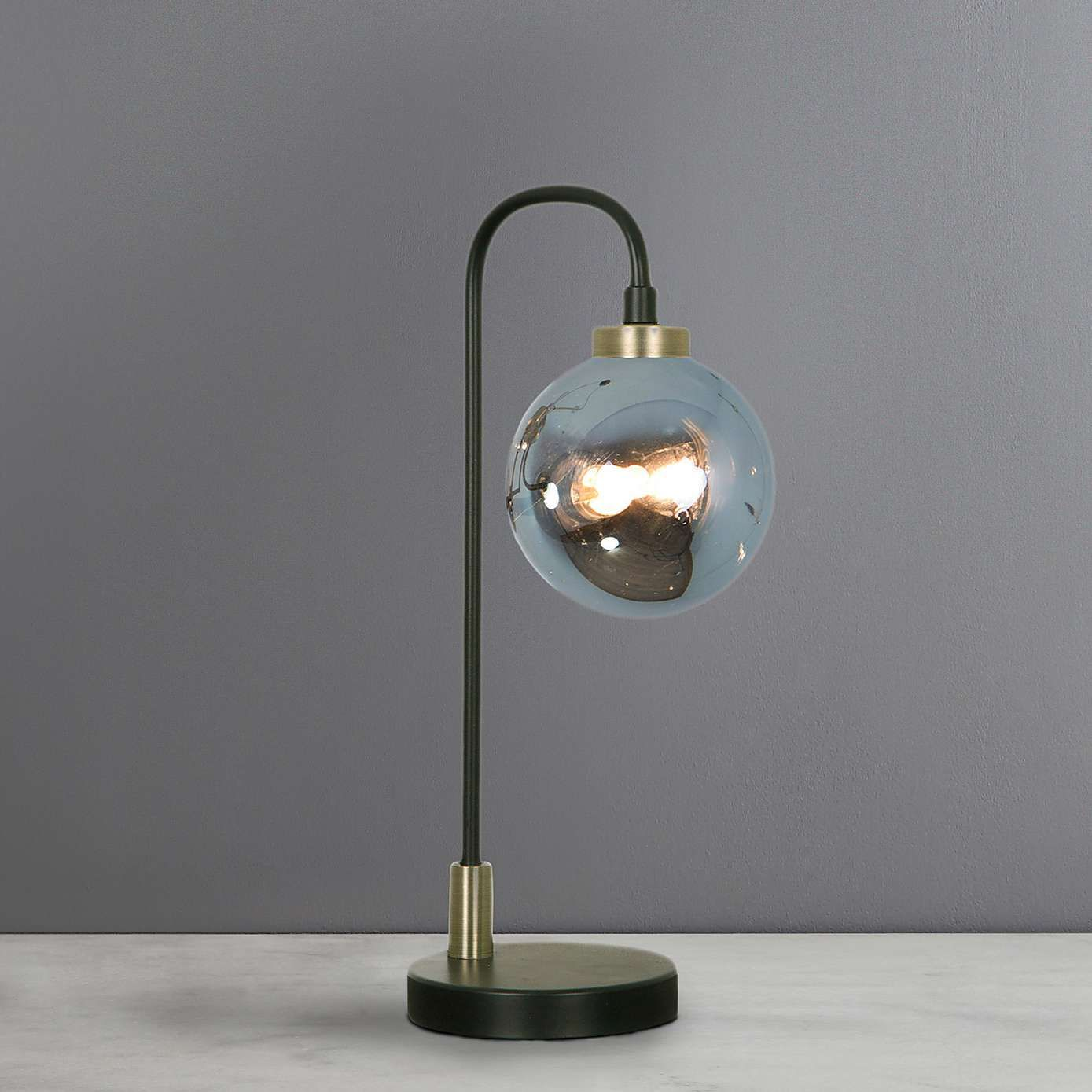 Tanner Black And Smoked Glass Table Lamp Black Table Lamps Touch Table Lamps Glass Table Lamp