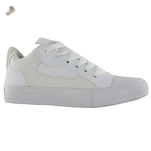 Converse Ct Asylum Ox White White Womens Trainers 8 5 Us
