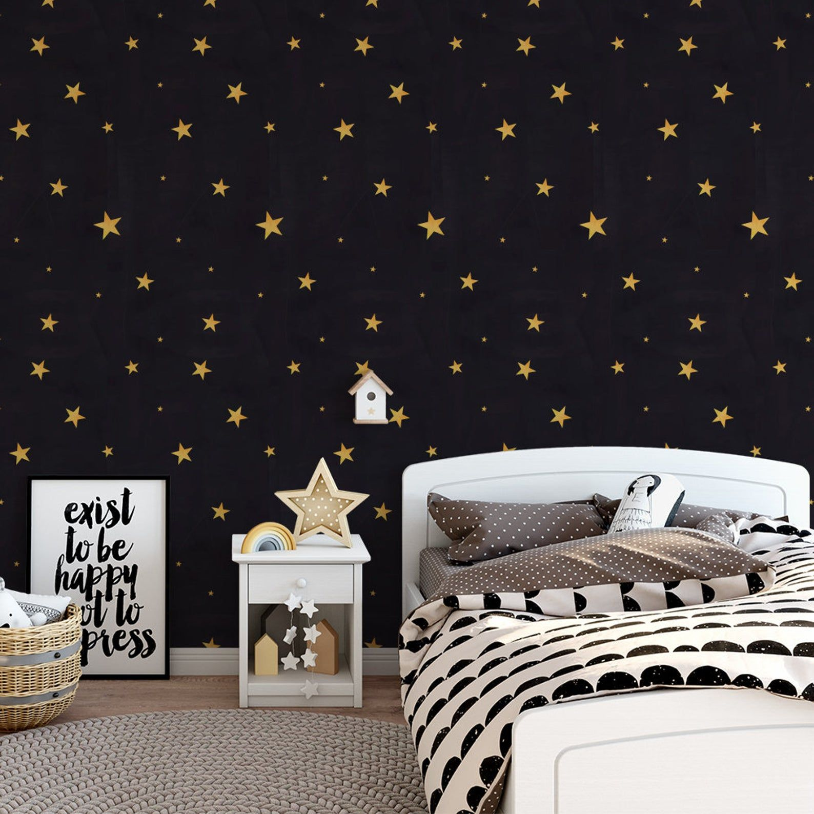 Watercolour Stars Removable Wallpaper Sticker Fabric Canvas Renters Pattern Tile Feature Wall Mural Nature Office Nursery Removable Wallpaper Wallpaper Stickers Custom Wall Stickers