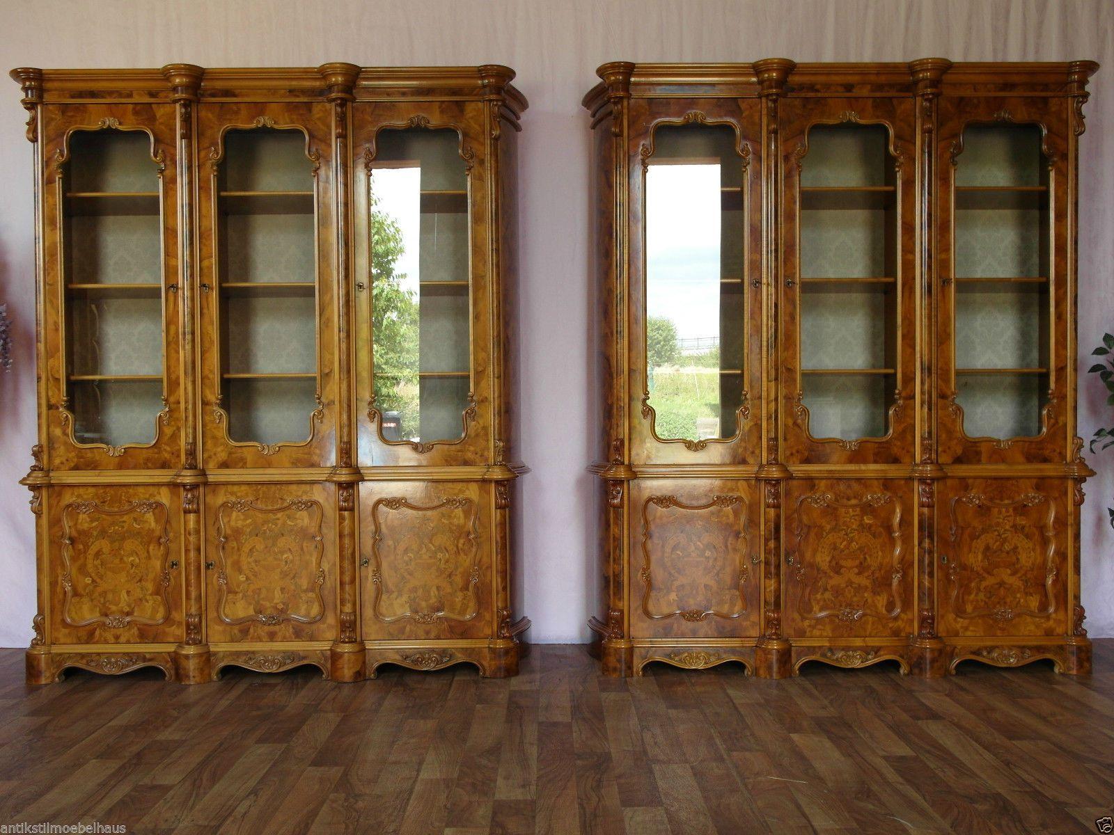 Nr.917-919 Ital. Vitrine/Schrank aus Kirschbaum, Holz, Intarsien ...