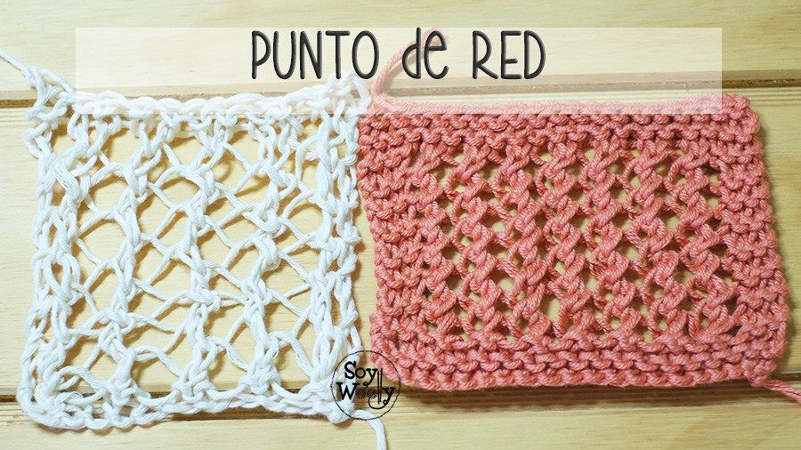 Punto de RED fácil tejido en dos agujas o palillos | Pinterest | Dos ...